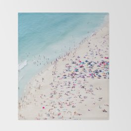 beach - summer love Throw Blanket