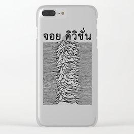 Joy Division - Unknown Pleasures Thai Font Clear iPhone Case