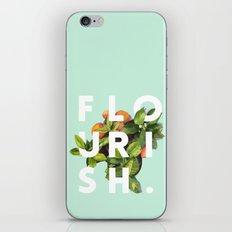 Flourish #society6 #buyart #typography #artprint iPhone Skin