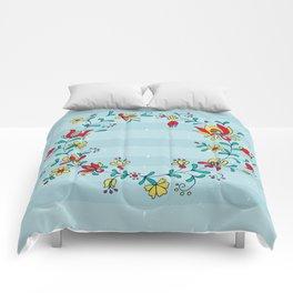 folk ornament Comforters
