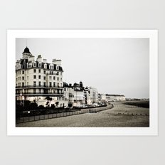 Old sea front Art Print