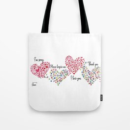 The Hearts and The Butterflies Tote Bag