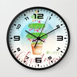 Merry Christmas tree #2 Wall Clock