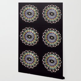 Stained glass cathedral rosette Wallpaper