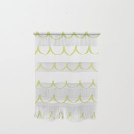 Citron Green Waves Wall Hanging
