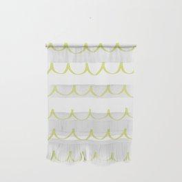 Citron Green Waves Wall Hanging