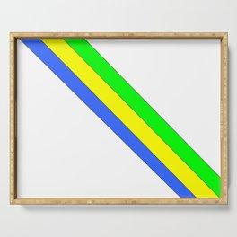 flag of gabon -gabon,gabonais,gabonaise,Gabonese,gabones,libreville. Serving Tray