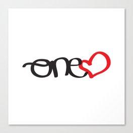 onelove Canvas Print