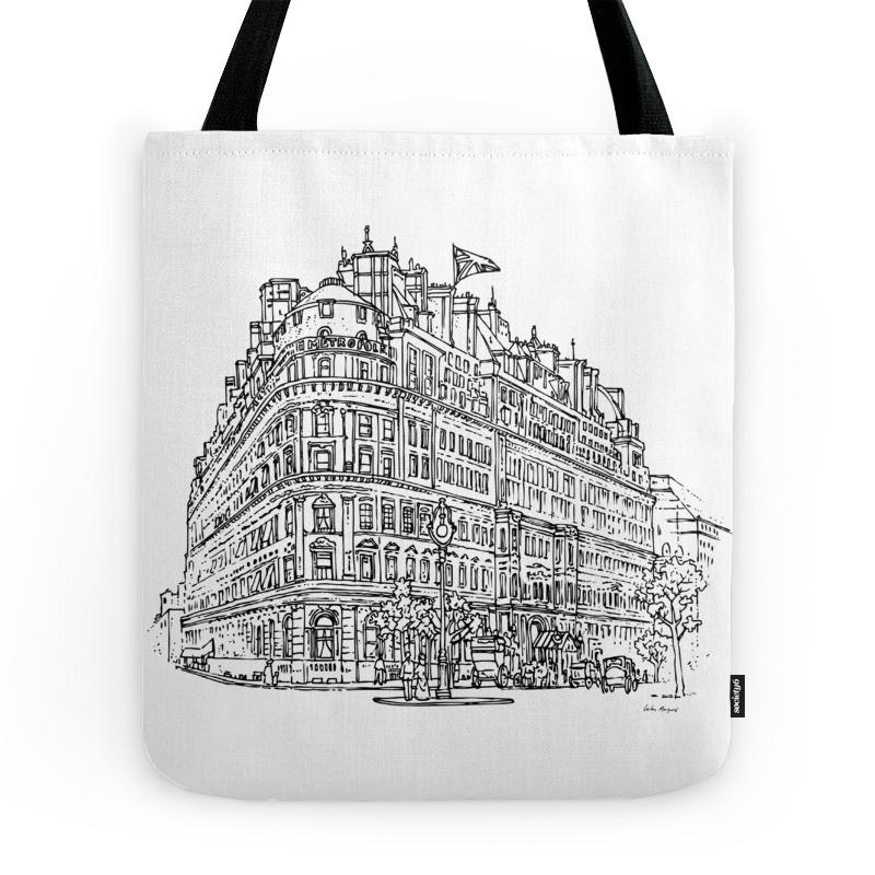 Hotel Metropole - London 1920 - Retro Vintage Tote Purse by tfantasy (TBG7915799) photo