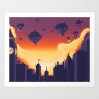 Cities in the Sky Art Print
