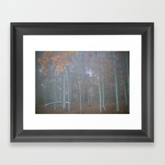 The autumn canoe Framed Art Print