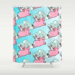 When Cutie Piggies fly Shower Curtain
