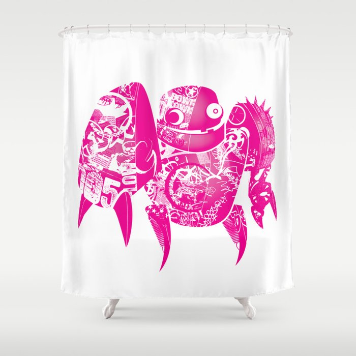 minima - slowbot 005 Shower Curtain