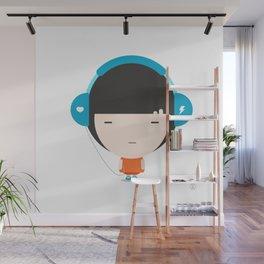 Helmet Girl: Jam Wall Mural
