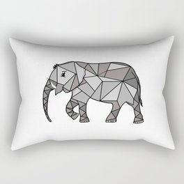 Elephant geometric, bishop grey, home decor, Graphicdesign Rectangular Pillow