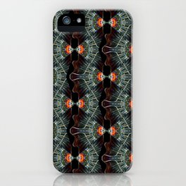 Glass and Lights Kaleidoscope Scanography iPhone Case