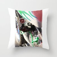 motorcycle Throw Pillows featuring Motorcycle by Carlo Toffolo