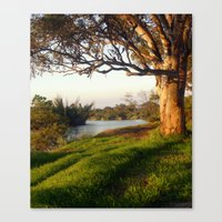 aelwen Canvas Prints featuring On the banks of the River by Chris' Landscape Images & Designs