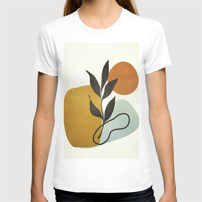 Soft Abstract Small Leaf T-shirt