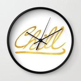 Gold Chill Wall Clock