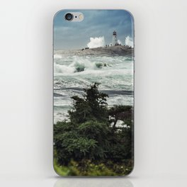 Storm Chasers at the Lighthouse iPhone Skin