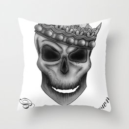 Bow Down to the Crown Throw Pillow