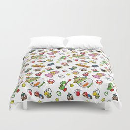 It's a really SUPER Mario pattern! Duvet Cover