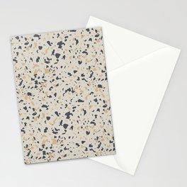 Terrazzo Pattern - Neutral Beige, Blue, Light Orange Stationery Cards