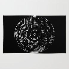 Record White on Black Rug
