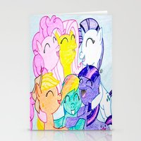 my little pony Stationery Cards featuring My Little Pony by Maranda Rae