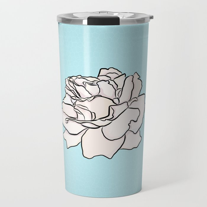 Powdered Blue Roses Travel Mug by justhappiling  349b6820928