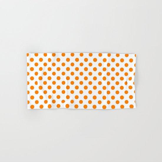 Polka Dots (Orange/White) Hand & Bath Towel