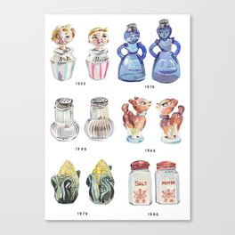 Collection of Vintage Salt & Pepper Shakers Canvas Print