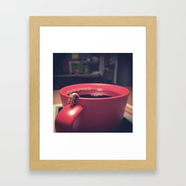 Not enough coffee for Monday Framed Art Print