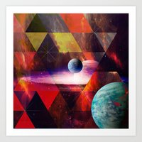 planet Art Prints featuring Planet by Tony Vazquez