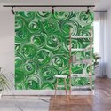 Emerald Green, Green Apple, and White Paint Swirls by abstractcolor