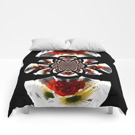 Mirror Image Abstract Comforters