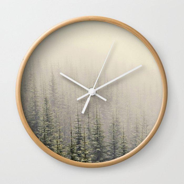 Mountain Haze Wall Clock