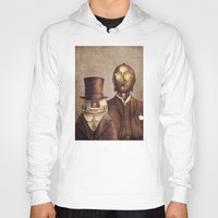 robots Hoodies featuring Victorian Robots  by Terry Fan