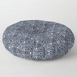 Kaleidoscope 3 blue Floor Pillow
