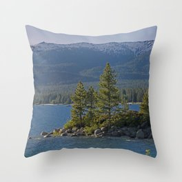 Trees +Tahoe IV Throw Pillow