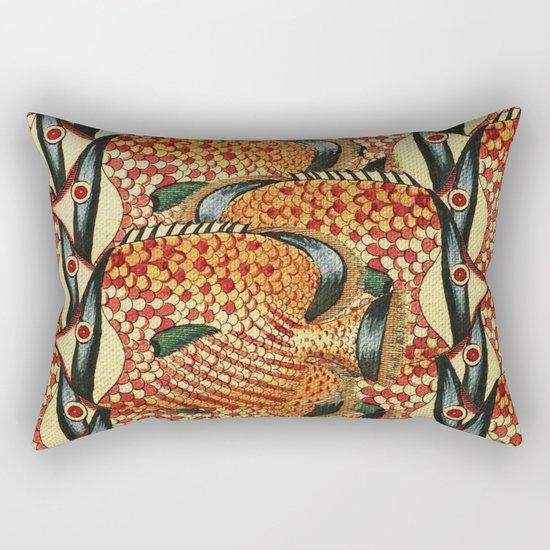 Crowd Fish Rectangular Pillow