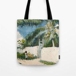 Winslow Homer - A Garden in Nassau,1885 Tote Bag