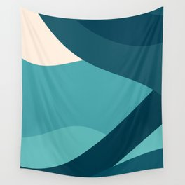 swell ocean and teal Wall Tapestry