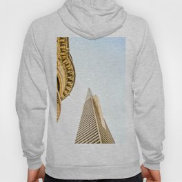 pyramid building and modern building and vintage style building at San Francisco, USA Hoody