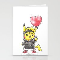 projectrocket Stationery Cards featuring iHeart Birdychu by Randy C