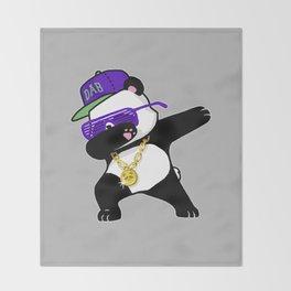 Dabbing Panda Throw Blanket