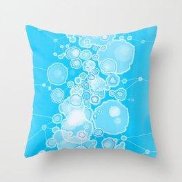 Molecular Bubbles Throw Pillow