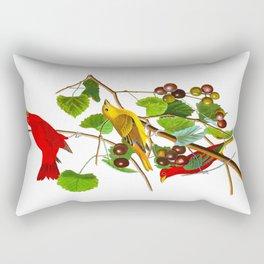 Summer Red Bird Rectangular Pillow