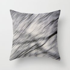 Blurry Tree Branches  Throw Pillow
